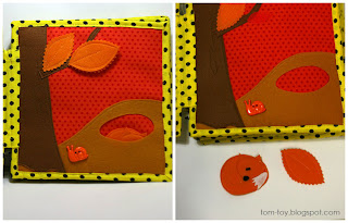 orange Rainbow quiet book - children's fabric busy book, развивающая книжка