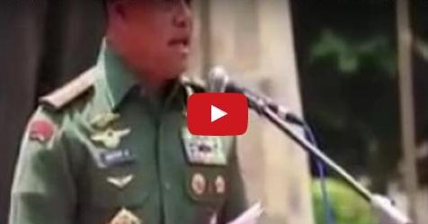 VIDEO: Panglima TNI Ini Ingatkan Agar Jangan Jadi Pengkhianat Bangsa Jika Tak Ingin Diadzab Allah