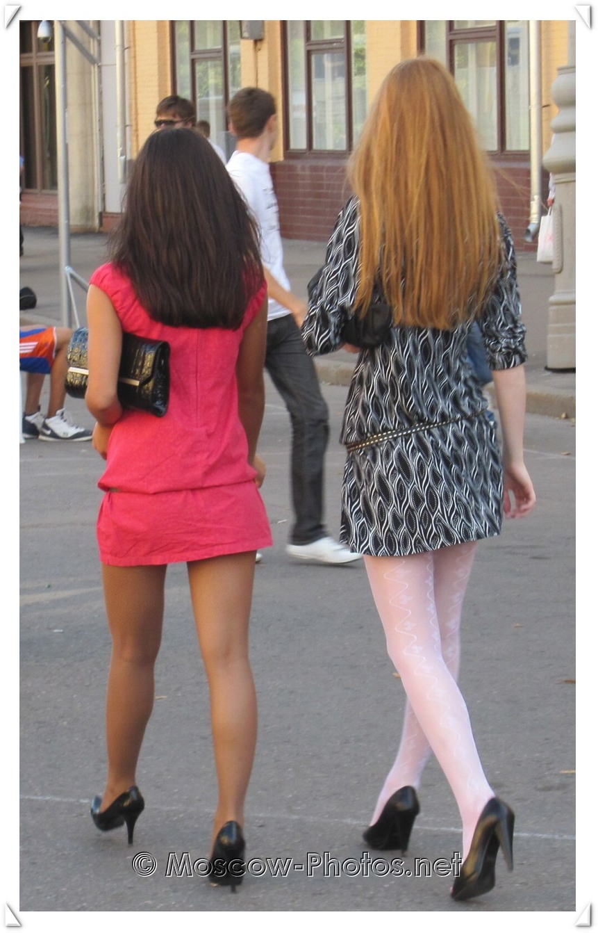 Cool Moscow Girls Walking