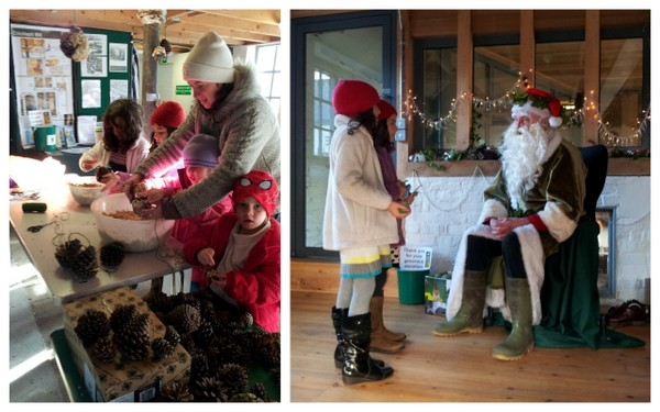 Green Father Christmas; reindeer; children enjoy Christmas at Cricklepit
