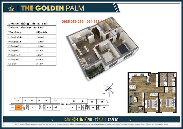 Không gian xanh tràn ngập tại The Golden Palm