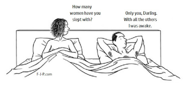 How many women have you slept with funny marriage cartoon picture