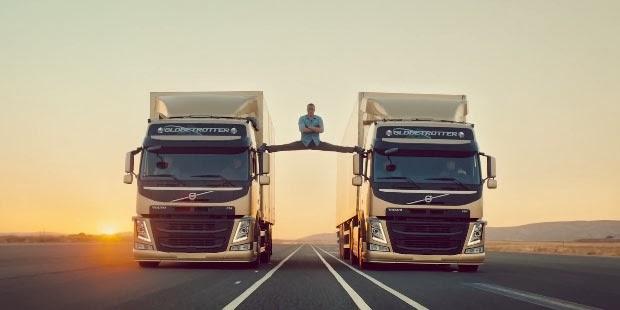 "Aksi ""Gila"" Van Damme"" Bersama Truk Volvo"