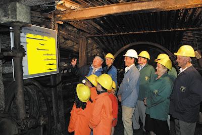 visitatori della miniere vallonia