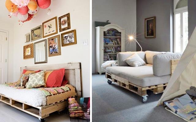 Dise o muebles hechos palets - Muebles hechos con estibas ...