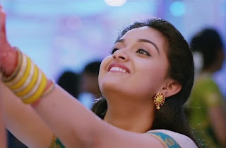 Keerthy Suresh in Saree with Cute and Awesome Lovely Chubby Cheeks Smile