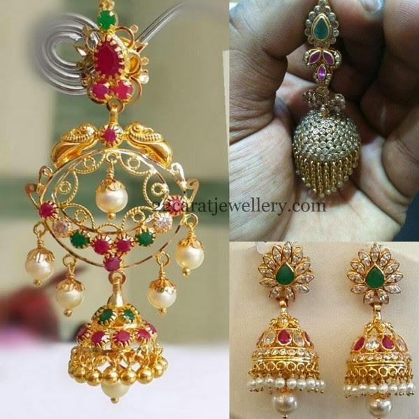 Below 20gms Chandbalis And Jhumkas Jewellery Designs