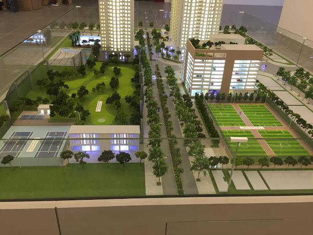 Sấn bóng mini, sân golf, sân tenis tại dự án chung cư Eco Lake View