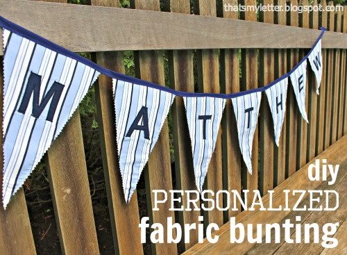 diy personalized fabric bunting