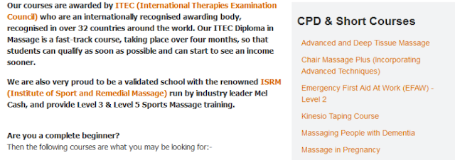 reputable provider of holistic and massage therapy courses