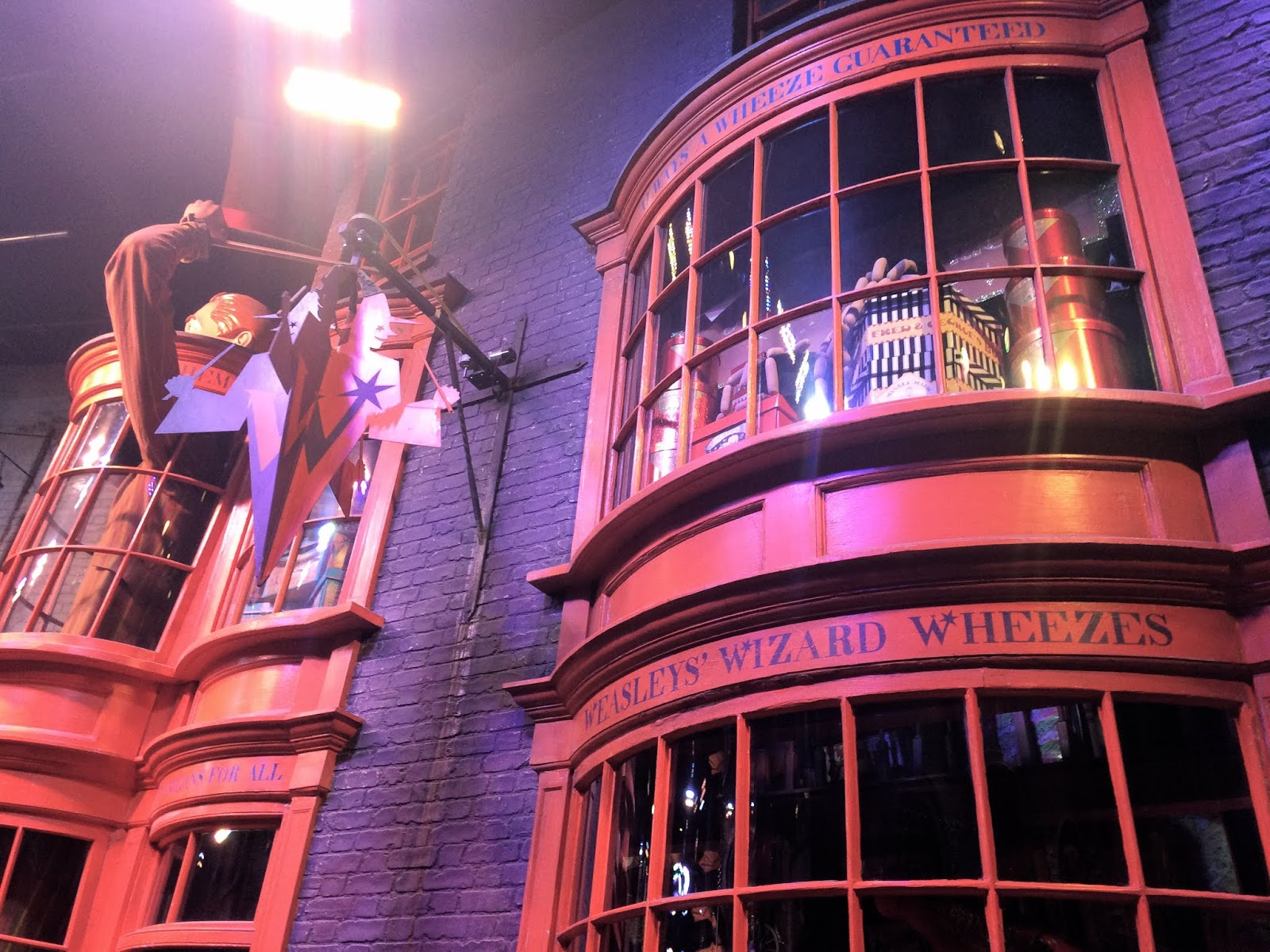 Close up of Weasley's Wizard Wheezes shop set