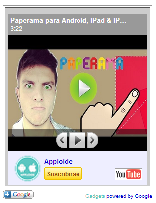 Widget de Youtube