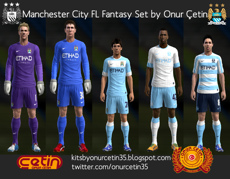 Manchester City FL Fantasy Set (with 12-13 Nike Temp
