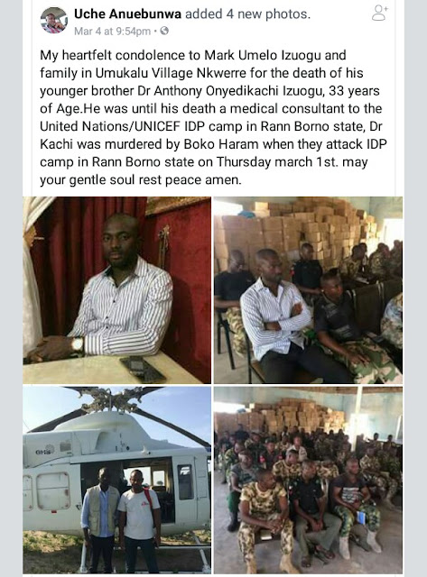 Photos: UN aid worker killed by Boko Haram terrorists in Rann, Borno, buried yesterday in Imo State