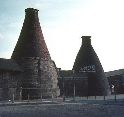 Longton Updraught Hovel Ovens - Elektra Porcelain, Edensor Road, Longton Photos: Terry Woolliscroft   Date: Aug 1970 demolished 1975