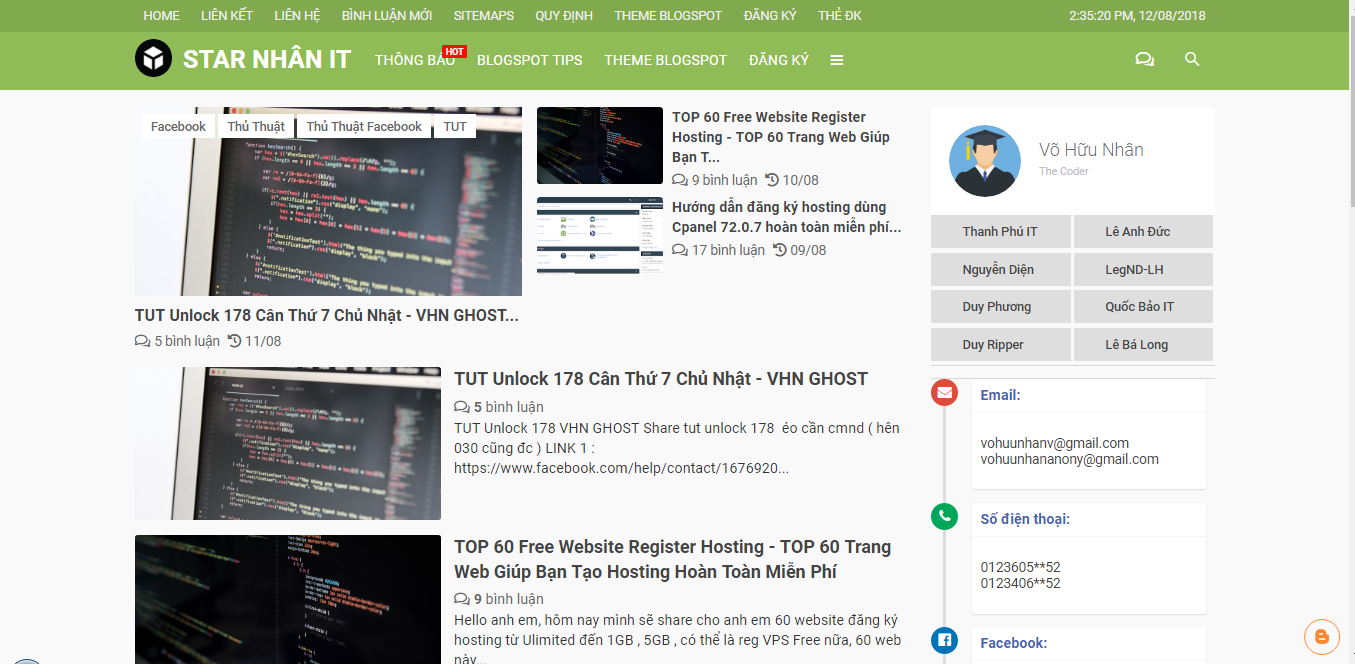 Share Template BSW Professional Responsive Template for Blogspot - [Blogging Style]