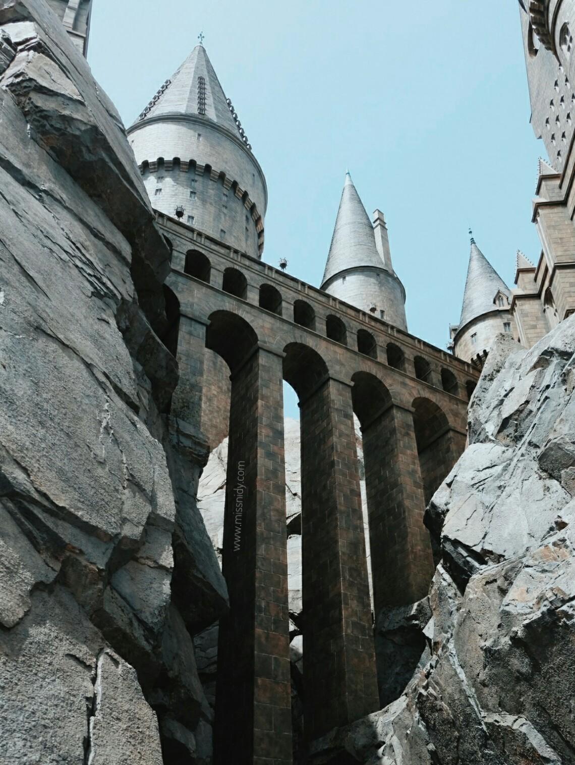 masuk ke hogwarts castle di jepang