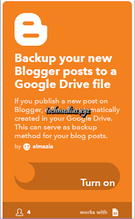 How to auto Backup Your Blogger/blogspot posts to google drive - ifttt