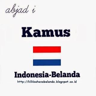 Abjad I, Kamus Indonesia - Belanda
