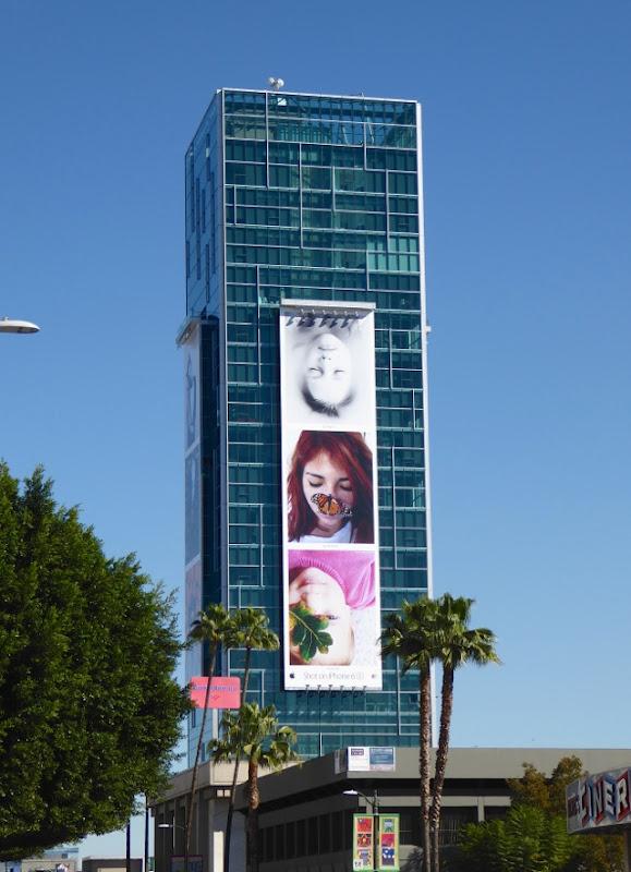 Giant Shot on iPhone 6s faces billboard Sunset Vine