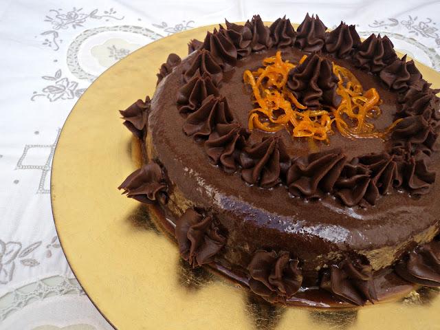 Tarta suprema chocolate naranja receta