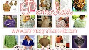 20 Patrones de Ponchos Tejidos