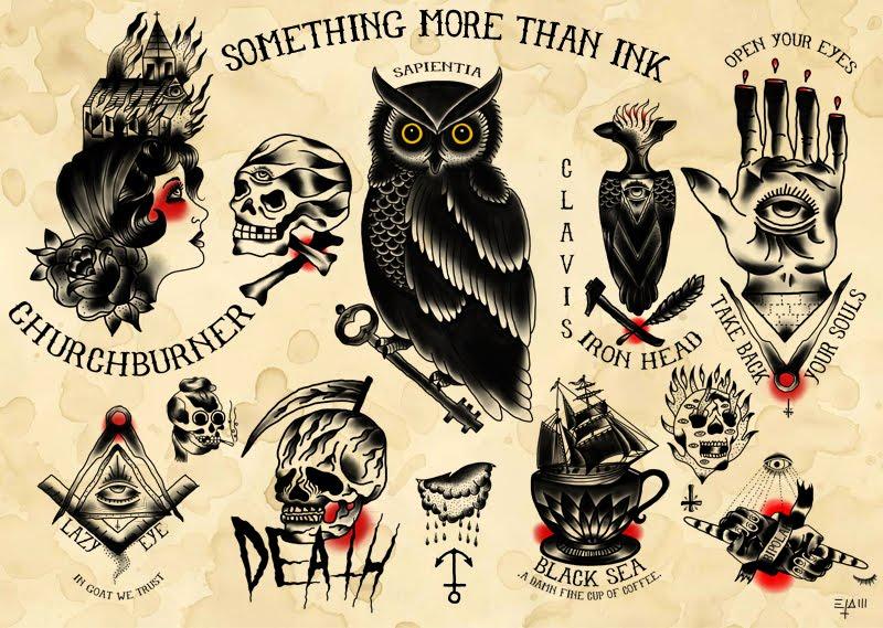 Tattoo Flash Art Black And White Guitar: ZERO6 Arte/desordem [art/mess]: Tattoo Artist