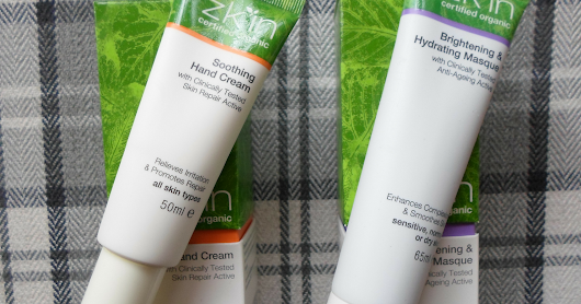 Review: Zk'in Certified Organic Brightening & Hydrating Masque and Soothing Hand Cream