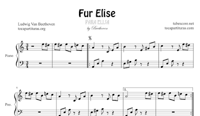Fur Elise Sheet Music for Piano Music Scores of classical music Per Elise Sheet Music for Piano Beginners