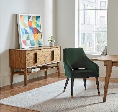 Rivet Fir Mid-Century Modern Dining Chair
