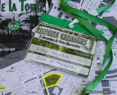 Acreditación Pablo El Marques en Hispania Wargames 2016