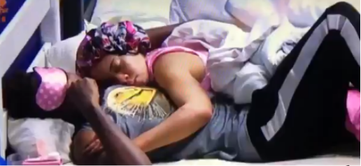 Miracle-Nina-sleep-on-each-others-arm-BBNaija-2018