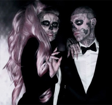 moreha tekor akhe: Lady Gaga Born This Way Skeleton Hair