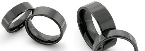 Zirconium wedding rings by ZhaawanArt Unieke Trouwringen