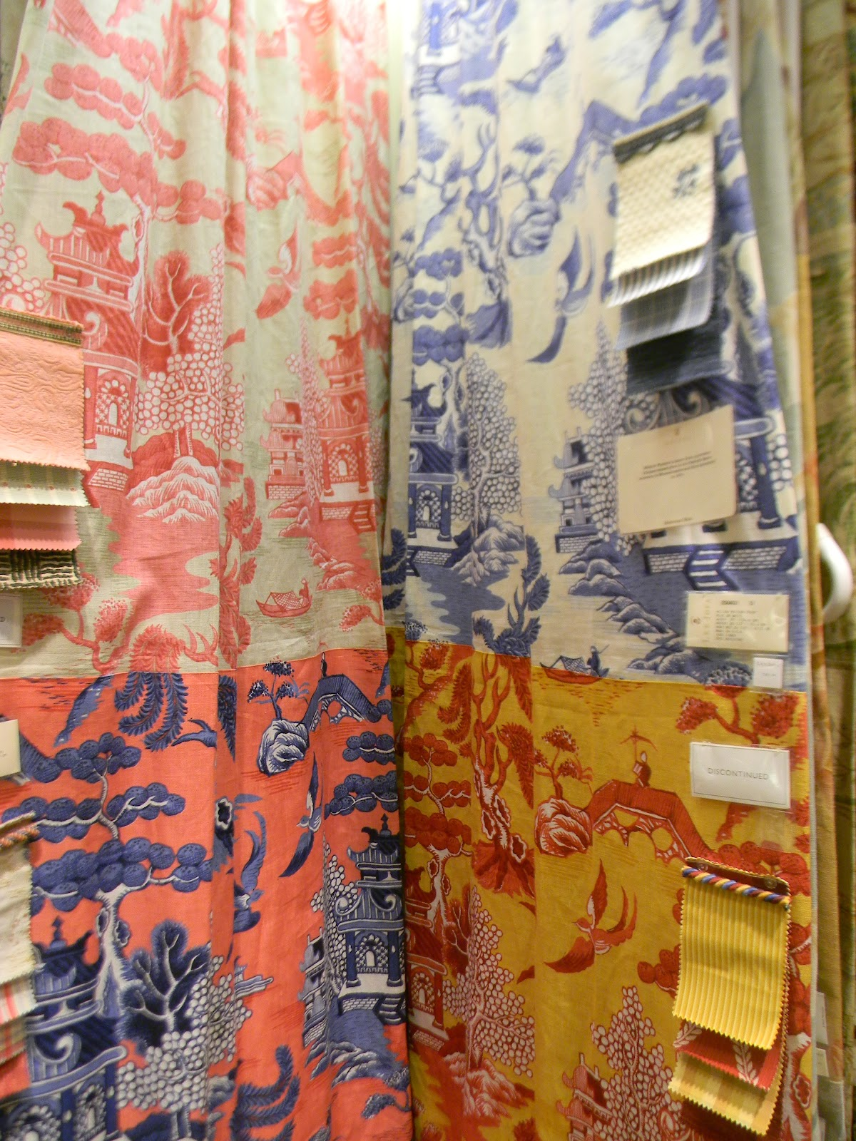 And Check Out These Fabric Choices The Pink White Is Sooooo Pretty Design Taken From A Chinese Porcelain Export Plate In Peabody Es