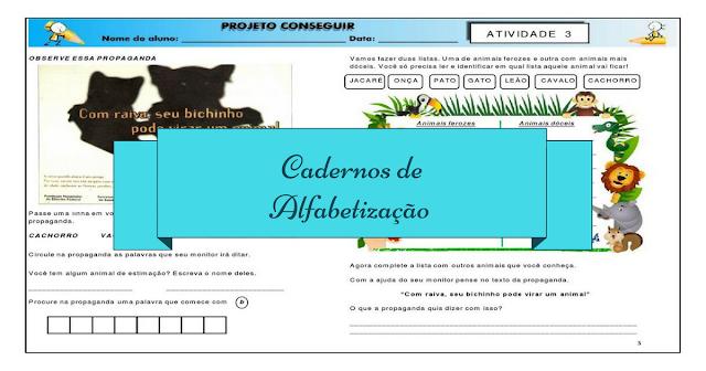 Cadernos de Alfabetização - Projeto Conseguir para Download