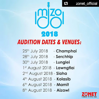 Mizo Idol 2018 - ZONET