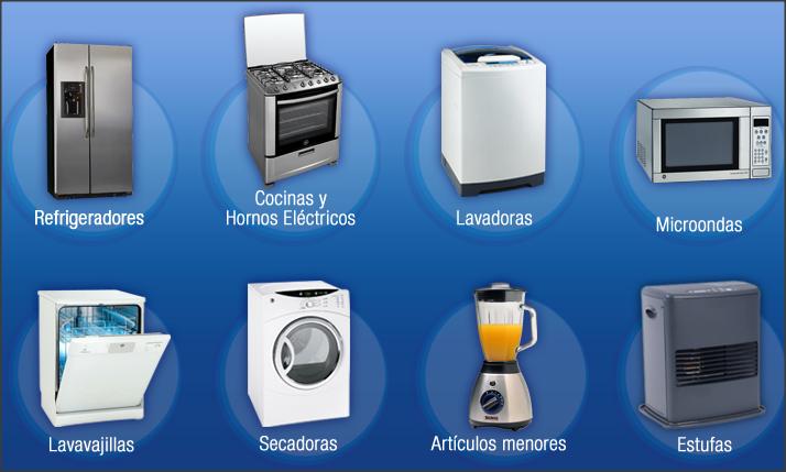 COCINAS - HORNOS ELÉCTRICOS - REFRIGERADORES - LAVAVAJILLAS LAVADORAS - SECADORAS - ASPIRADORAS - HERVIDORES - MICROONDAS - AIRE ACONDICIONADO