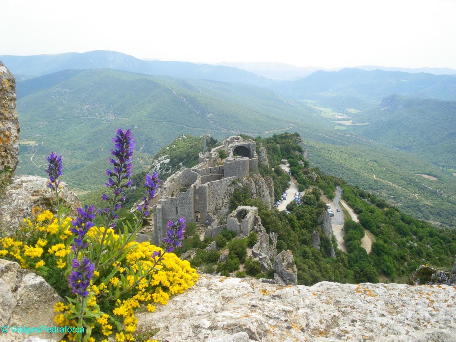 Castell càtar de Peyrepertuse, França, Aude, Pays Cathare, País Càtar, Art romànic