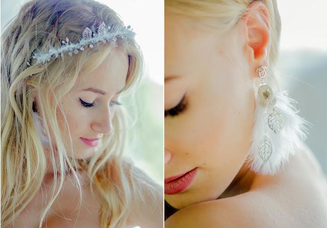 Biżuteria ślubna z piórkami
