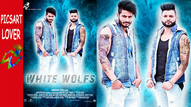 WHITE WOLFS PICSART MANIPULATION EASY MOVIE POSTER PNG DOWNLOAD