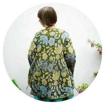 Geranium jacquard knit cardigan by Gudrun Sjödén
