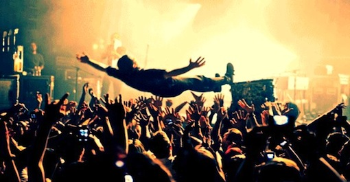 crowd-diving