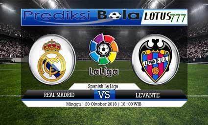 PREDIKSI REAL MADRID VS LEVANTE 20 OKTOBER 2018