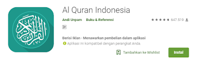 Download Al Quran Terjemahan Bahasa Indonesia