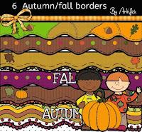 bordes con colores de otoño imprimible gratis