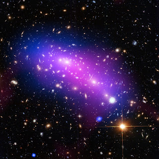 """At first glance, this cosmic kaleidoscope of purple, blue and pink offers a strikingly beautiful — and serene — snapshot of the cosmos."" Image credit: NASA, ESA, CXC, NRAO/AUI/NSF, STScI, and G. Ogrean (Stanford University)  Type: Observation Release date: 21 March 2016, 06:00 Acknowledgment: NASA - National Aeronautics and Space Administration,  ESA - European Space Agency, and J. Lotz (STScI), and the HFF team.   Read more here: http://www.spacetelescope.org/images/potw1612a/"