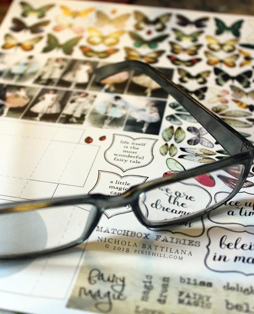 Matchbox Fairy Collage Sheet and Tutorial - pixiehill.com