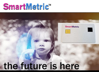 Slide photo showing SmartMetric smart card