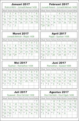 Halaman 1 kalender islam tahun 2017